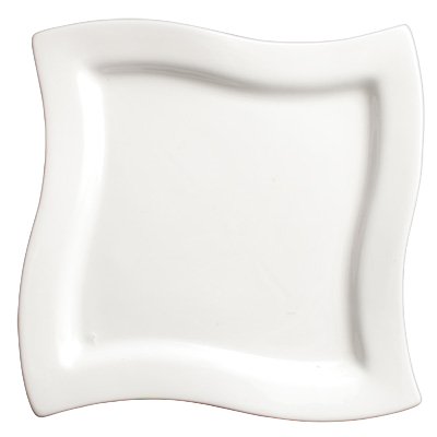 "Plate Bright White Porcelain 7-1/2"" - 24 Plates/Case"