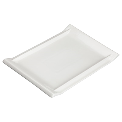 "Platter Bright White Porcelain 15-5/8"" x 10-5/8"" - 12 Platters/Case"