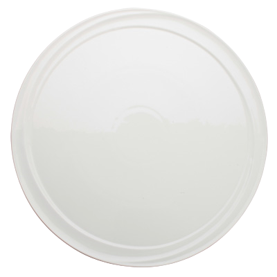 "Plate Bright White Porcelain 12"" Diameter - 12 Plates/Case"