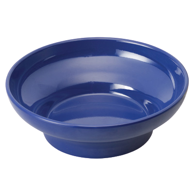 "Salsa Bowl 5 oz. Blue Melamine 10-7/16"" Diameter x 8-5/8"" Height - 48 Bowls/Case"