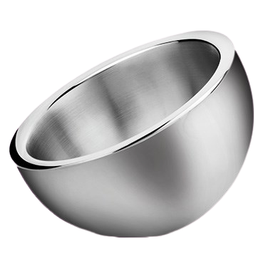 "Display Bowl Angled 2-1/4 qt. Stainless Steel 9"" Diameter"