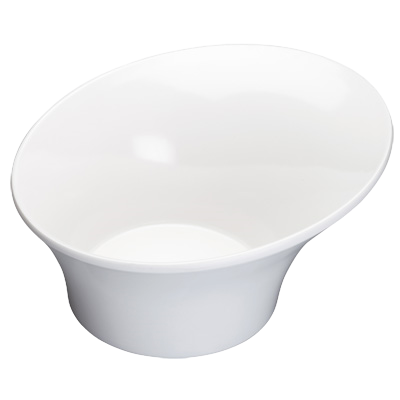 "Bowl 1 qt. White Melamine 8-1/2"" Diameter - 24 Bowls/Case"