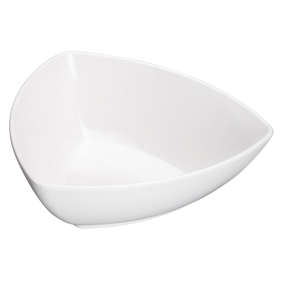 "Bowl 1 qt. White Melamine 8"" - 24 Bowls/Case"