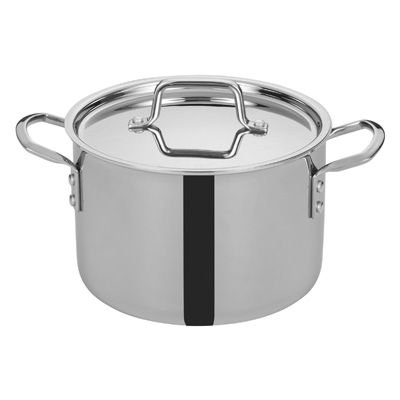 "Tri-Gen™ Induction-Ready Stock Pot with Cover 6 qt. Stainless Steel 8-1/2"" Diameter x 7-2/3"" Height"
