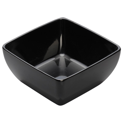 "Bowl 1-3/4 qt. Black Melamine 7-1/2"" - 12 Bowls/Case"