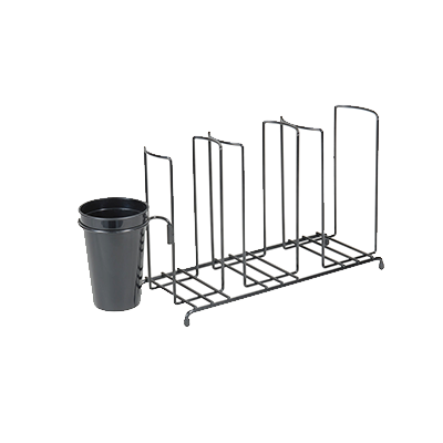 superior-equipment-supply - San Jamar- Chef Revival - San Jamar Cup & Lid Organizer With Caddy 3 Stacks