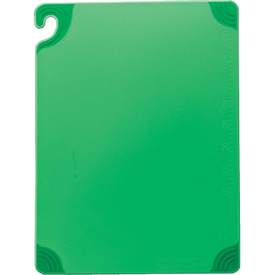 "superior-equipment-supply - San Jamar- Chef Revival - San Jamar Saf-T-Grip Green 12"" x 18"" Cutting Board"