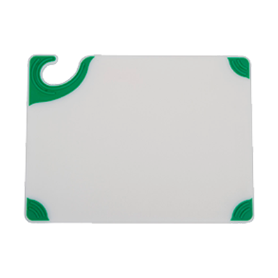 superior-equipment-supply - San Jamar- Chef Revival - San Jamar Saf-T-Grip White w/ Green Anti-Slip Grip Corners Cutting Board