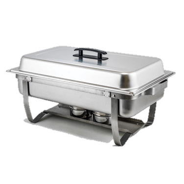 superior-equipment-supply - Winco - Stainless Steel Rectangular Full Size Chafer 8 Qt.