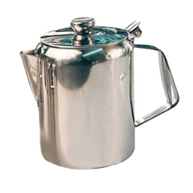 Beverage Server with Hinged Top Stainless Steel Mirror Finish 70 oz.