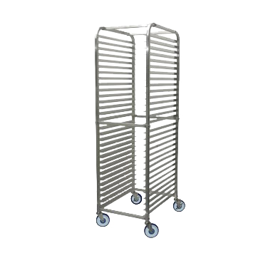 "Winco Aluminum Mobile Sheet Pan Rack 2"" Casters (Two with Brakes)"
