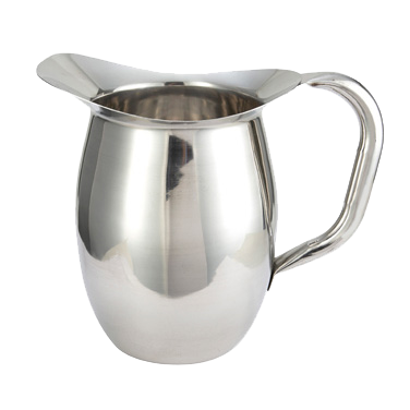 Bell Pitcher Heavy Weight Stainless Steel Mirror Finish 2 qt.
