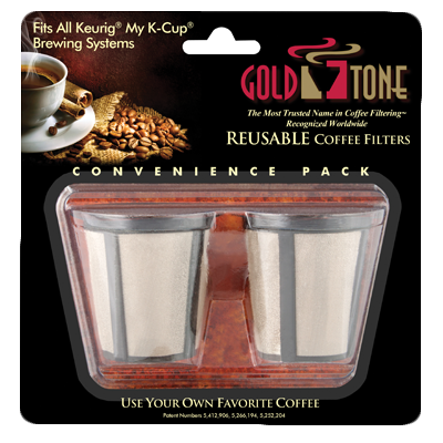 HIC 2 Gold Reusable Coffee Filters