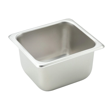"Winco Stainless Steel Steam Table Pan 1/6 Size 4"" Deep"