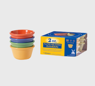 GET Enterprise Diamond Mardi Gras™ Ramekin 2 oz. Melamine Pack of 4 Colors
