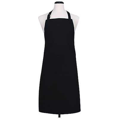 "HIC Black Double Pocket Apron, 27"" x 34"""