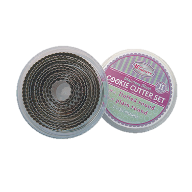 superior-equipment-supply - Winco - Cookie Cutter Set Fluted Round