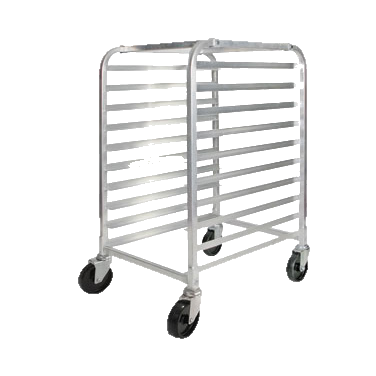 "Winco Heavy-Duty Aluminum Mobile Sheet Pan Rack Half Height 26"" Wide"