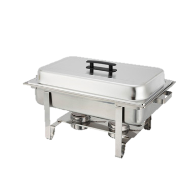 superior-equipment-supply - Winco - Newburg Chafer Oblong 8 Qt Stainless Steel