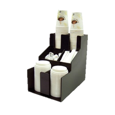 Cup & Lid Organizer, 2 Compartments, 3 Tier