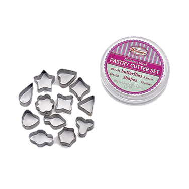 superior-equipment-supply - Winco - Stainless Steel Cookie Cutter Set 12-Piece