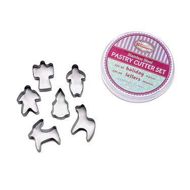 superior-equipment-supply - Winco - Stainless Steel Cookie Cutter Set 6-Piece