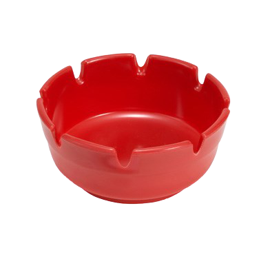 "Ashtray Round Red Bakelite 4"" Diameter - One Dozen"