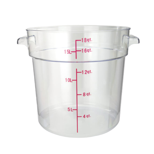 "Food Storage Container 18 qt. Clear Polycarbonate 12-1/4"" x 14-1/8"" x 12""H"
