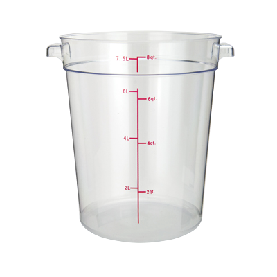 "Food Storage Container 8 qt. Clear Polycarbonate 8-15/16"" x 10-3/8"" x 10-3/4""H"