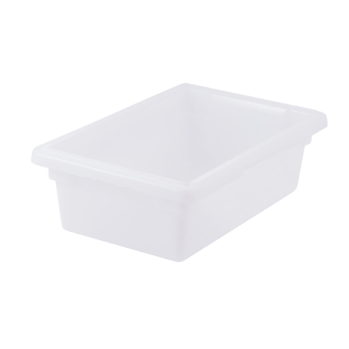 "Food Storage Box 3.5 Gallon White BPA Free Polypropylene 18"" x 12"" x 6"""