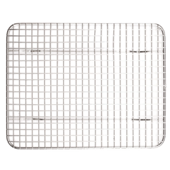 "Wire Pan Grate Half Size Raised Feet Rust-Resistant Stainless Steel 8"" x 10"""