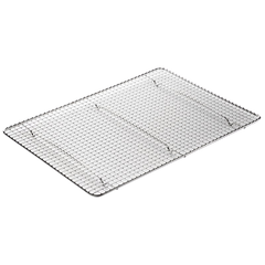 "Wire Pan Grate Half Size Footed Stainless Steel 12"" x 16-1/2"""