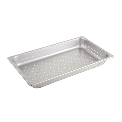 "Steam Table Pan Full Size Perforated 25 Gauge Stainless Steel 2-1/2"" Deep"