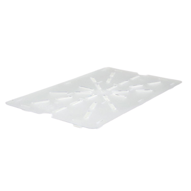 "Poly-Ware Drain Shelf for Full Size Food Pan Polycarbonate 18-5/16"" x 10-1/4"""