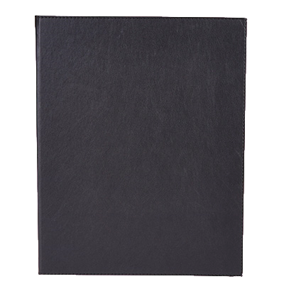 "Menu Cover Double Black Leather-Like Holds 8-1/2"" x 11"" Paper"