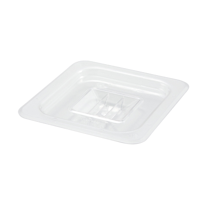 Poly-Ware Food Pan Cover with Handle 1/6 Size Solid Polycarbonate
