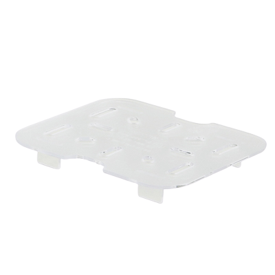 "Poly-Ware Drain Shelf for 1/6 Size Food Pan Polycarbonate 4-7/16"" x 4-1/4"""