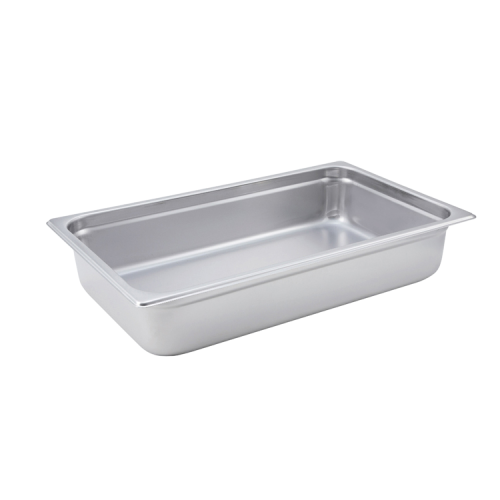 "Steam Table Pan Full Size 24 Gauge 18/8 Stainless Steel 20-3/4"" x 12-3/4"" x 4"""