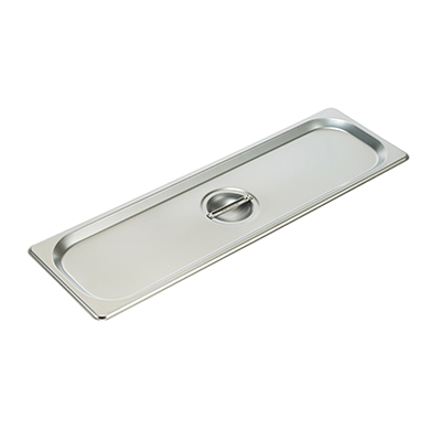 Steam Table Pan Cover 1/2 Size Solid 25 Gauge Standard Weight Stainless Steel