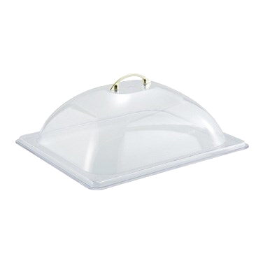 "Dome Cover Half Size Polycarbonate 13-1/2"" x 11"" x 4-2/5"""