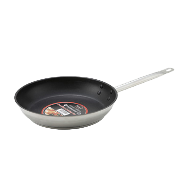 "superior-equipment-supply - Winco - Stainless Steel Premium Induction Fry Pan 11"" Diameter Nonstick"