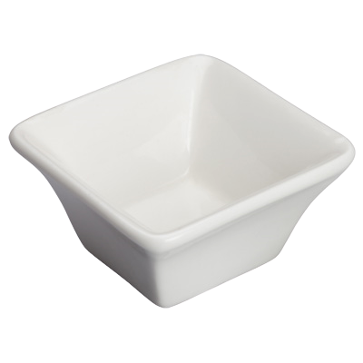 "Bowl 1-1/2 oz. Bright White Porcelain 2-1/2"" - 36 Bowls/Case"