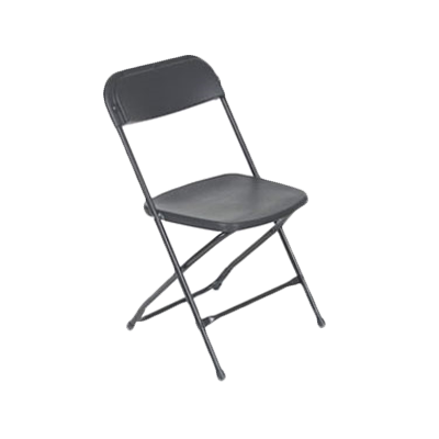 Royal Industries Steel Framed Plastic Seat & Back Black Folding Chair Back