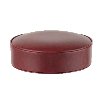"superior-equipment-supply - Royal Industries - Royal Industries Standard Bar Stool Replacement Seat 14"" Diameter Crimson Vinyl"