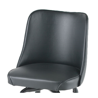 Royal Industries Standard Bucket Replacement Seat  Black Vinyl
