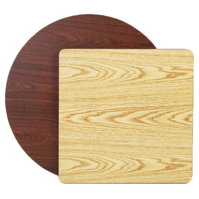 "superior-equipment-supply - Royal Industries - Royal Industries Melamine Tops 24""x 24"" Oak/Walnut Square Table Top"