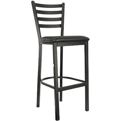 Oak Street Metal Frame Barstool Ladder Back With Wood Seat
