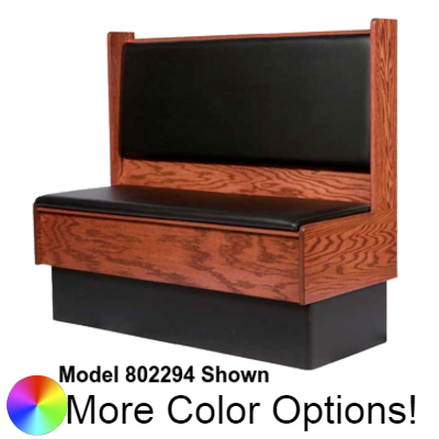 "Oak Street Single Aristocraft Booth 42""H x 72""W Upholstered Seat & Back Oak Construction"