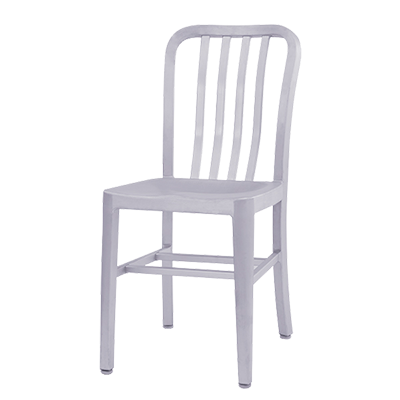 Oak Street Navy Series Dining Chair Aluminum Seat And Frame