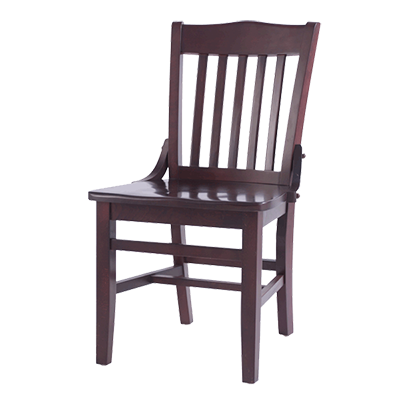 Oak Street Dining Chair Slat Back Matching Wood Seat European Beechwood Frame Mahogany Finish